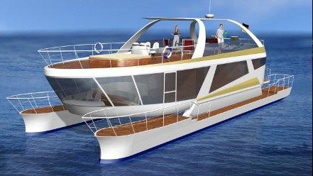 schwebeyacht schnelle und treibstoffsparende yacht. Black Bedroom Furniture Sets. Home Design Ideas